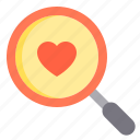 couple, design, finding, heart, love icon