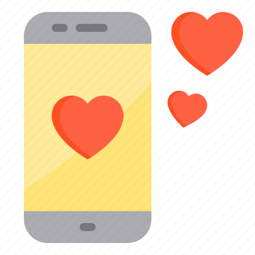 couple, design, heart, love, smartphone icon