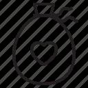 bag, couple, design, heart, love