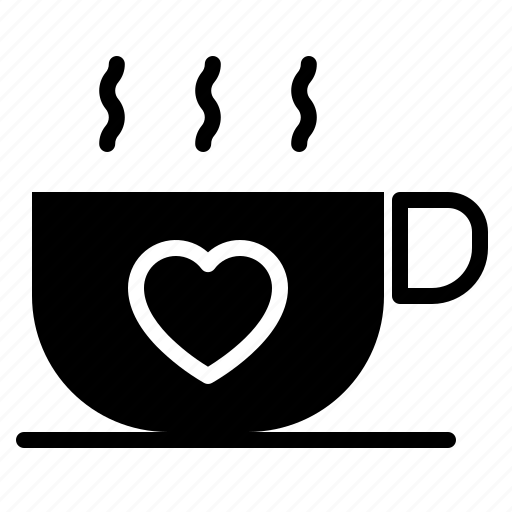 coffee, couple, design, heart, love icon