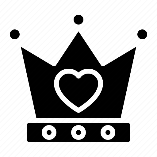 couple, crown, design, heart, king, love icon