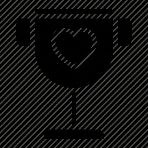 couple, design, heart, love, trophy icon