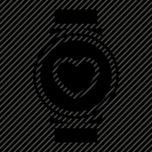 couple, design, health, heart, love, watch icon