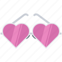 day, glasses, heart, love, pink, relationship, valentine icon