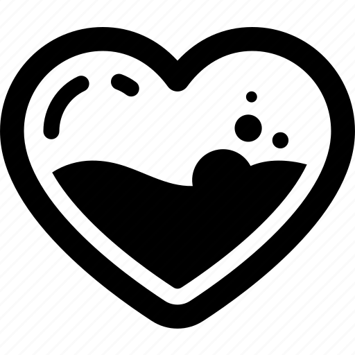 fill, heart, love, relationship, romance, valentine icon