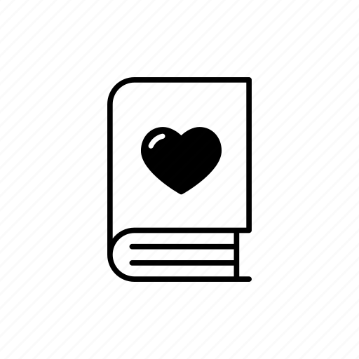 book, dairy, heart, love, notebook, romantic icon