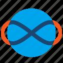 cycle, loop, infinity, eternal icon