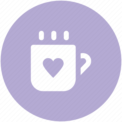 feelings, friendship, heart symbol, in love, sentimental, steaming coffee, valentine day icon