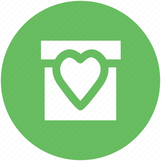 celebration, congratulation, festive, gift, heart sign, present, valentine day icon
