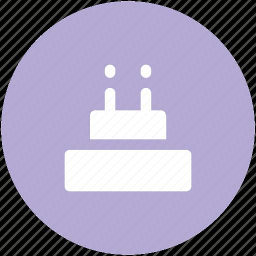 anniversary, birthday, cake, candles, dessert, happiness, valentine day icon