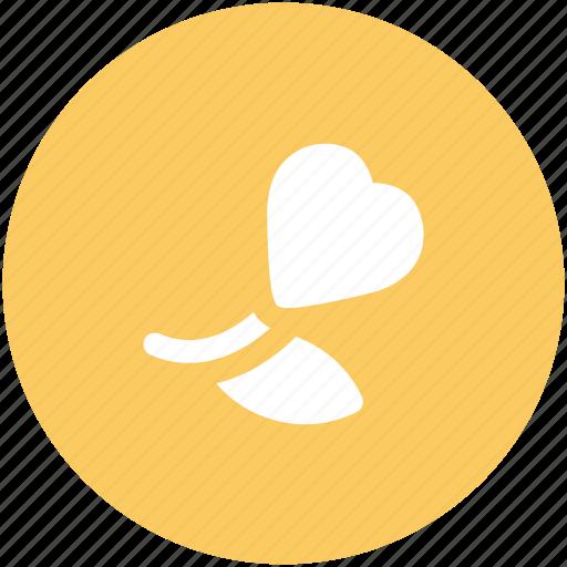 heart shaped, love sign, passion, romance symbol, rosebud, sentimental, valentine's day icon