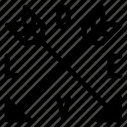 arrow, download, move, pointer, printer icon