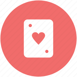 blackjack card, casino, gambling, game, heart, playing card, poker card icon