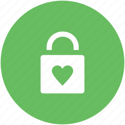 heart sign, love secret, padlock, privacy, relationship protection, romantic, secret feelings icon