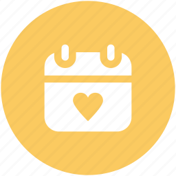 14 february, dating, greeting, heart calendar, love inspiration, valentine day, wedding day icon