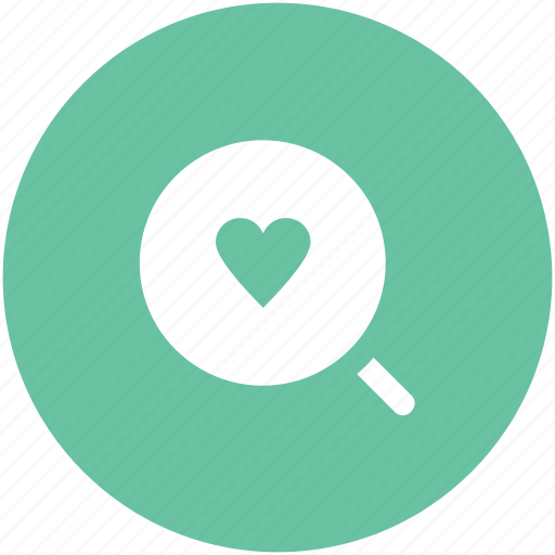 dating concept, heart, heart search, love symbol, magnifier, marriage proposal find partner icon