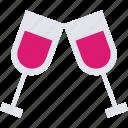 brindis, dat, drink, valentine icon