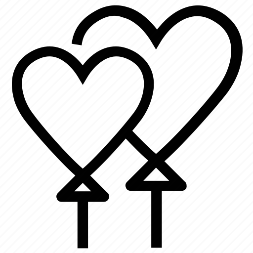 balloons, greeting balloons, heart, heart balloons, love icon