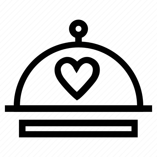 dinner, food platter, heart on platter, romance icon