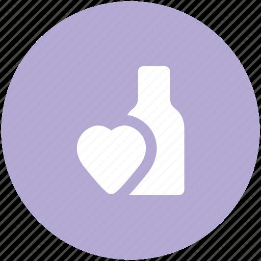 anniversary, arrangement, beverage, bottle, celebrate, drink, heart sign, new year, wine bottle icon