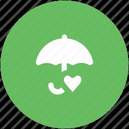 heart, love inspiration, love theme, parasol, protection symbol, umbrella, valentine icon