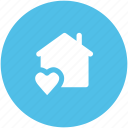 happiness, happy family, happy home, heart sign, house, love home, love inspirations icon