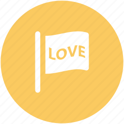 desire, feelings, flag, love theme, love word, passion, sentimental icon