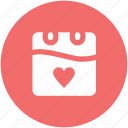 14 february, dating, greeting, heart calendar, love, love inspiration, valentine day icon