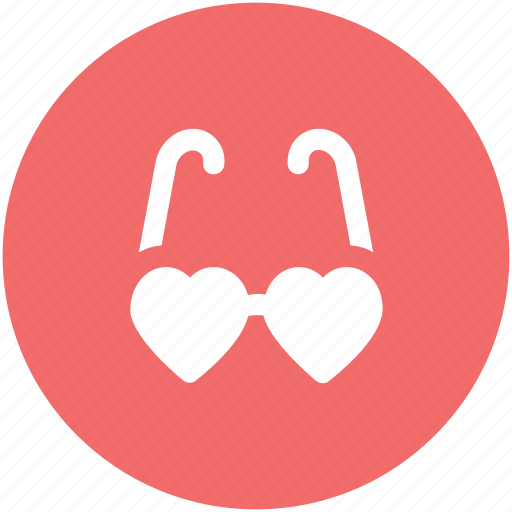fashion, heart glasses, love, love theme, passion, style, valentine day icon