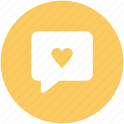 compassion, heart sign, love chat, love via internet, relationship theme, romantic conversation, speech bubble icon