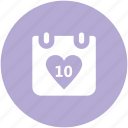 celebrations, dating, greeting, heart calendar, love inspiration, wedding anniversary, wedding day icon