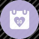 celebrations, dating, greeting, heart calendar, love inspiration, wedding anniversary, wedding day icon