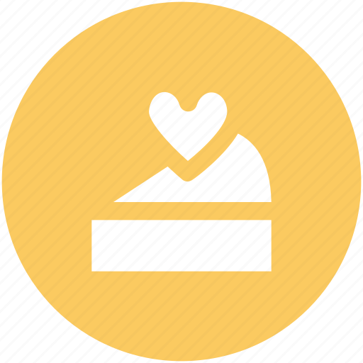 cake, dessert, food, happiness, heart candle, heart sign, valentine day icon