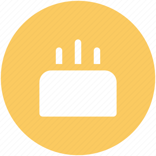 anniversary, birthday, cake, candles, dessert, happiness, valentine day icon