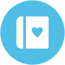 diary, heart sign, love inspirations, memo, memories, romantic feelings, thoughts icon