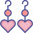 eardrops, earrings, fashion, heart earrings