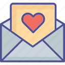 envelope, love letter, love message, valentine greeting icon