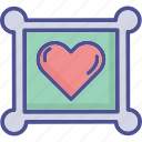 heart paper, heart card, love card, love greeting icon