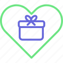 gift boxes, heart gifts, heart shaped, love presents icon