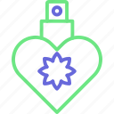 heart bottle, perfume, perfume bottle, perfume with heart