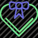 heart box, gift box, heart shaped, love present icon