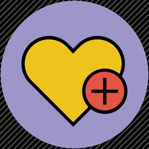 add, heart, love and romance, plus sign, romance icon