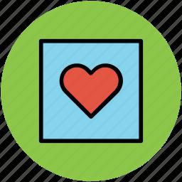 greeting card, heart, romance, valentine card, valentine greeting icon