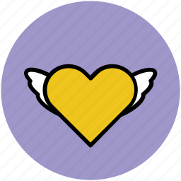 feeling, heart, heart bird, heart fins, heart shape, like, love in air icon