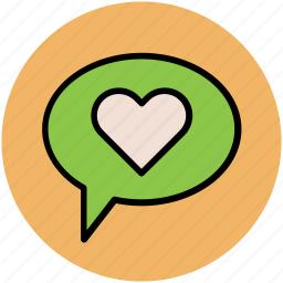bubble, chat box, comments box, romance icon