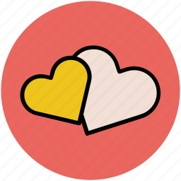 affection, couple in love, like, love, romance, two hearts, valentine icon