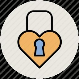 heart design, heart lock, like, love, love sign, love symbol icon