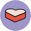 celebrating love, heart cake, love, love cake, romantic, valentine's day icon