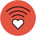 heart, heart waves, love, love and romance, waves icon
