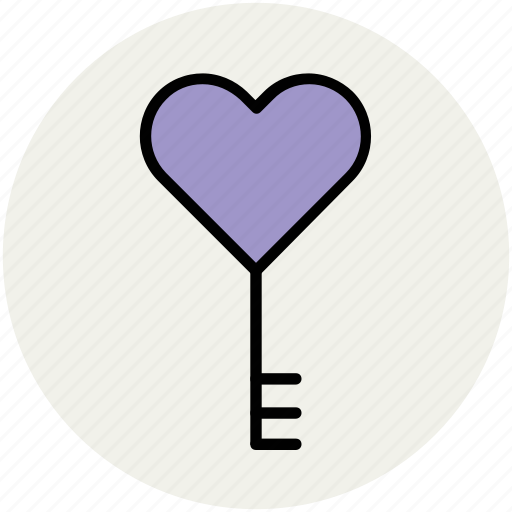 heart key, key, key to heart, love key, love sign, love symbol icon